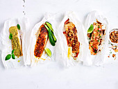 Four ways with baked salmon