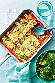 Spinach and ricotta zuchini canneloni