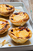 Pastel de Nata (baked pastries with custard, Portugal)