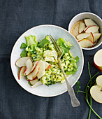 Mashed potatoes and chicory with an apple vinaigrette