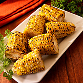 Fire roasted sweet corn ears