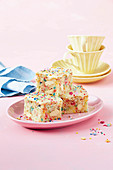 Fairy bread blondies
