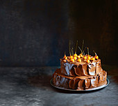 Chocolate-hazelnut celebration cake