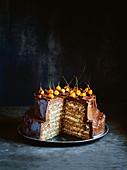 Chocolate-hazelnut celebration cake