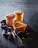 Curried chicken pies in jars