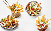 Chips Banh Mi, Mexican, japanese and poutine