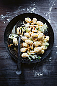 Prawn and ricotta gnocchi with almond burnt butter
