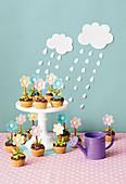 Blumentopf-Cupcakes