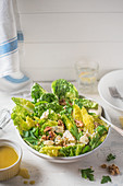 Blue cheese, walnut and parsley salad with mustard dressing