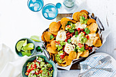 Easy lentil and bean nachos