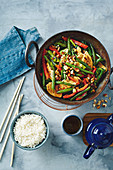 Sweet chilli chicken and lime stir-fry