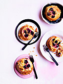 Breakfast buns with blackberry cream cheese filling