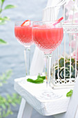 Watermelon cocktails with rum