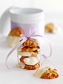 Florentines with white chocolate