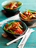 Stir Fry with Yakitori chicken and vegetables