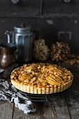 An autumnal pumpkin and apple tart