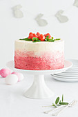 Strawberry cake for Easter