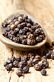 Dried black peppercorns