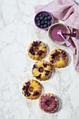 Mini gugelhupfs with blueberries