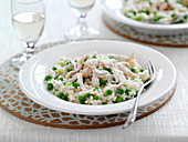 Risotto with chicken and peas