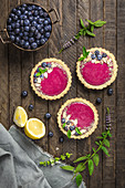 Blueberry Lemon Curd Tarts