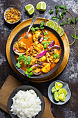 Chicken Massaman Curry with Rice and Limes