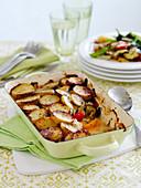 Summer vegetable and potatoe bake