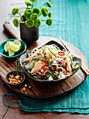 Thai glass noodles with salmon
