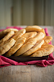 Homemade pita breads