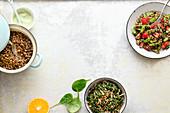 A trio of quinoa one pots