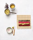 Zutaten für Buchweizen-Sushi mit Mango und Gurke
