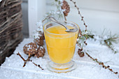 Spiced tea with ginger, star anise, cinnamon and orange