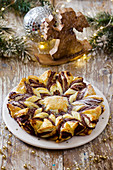 Puff pastry cake with nutella