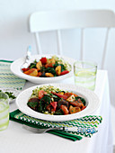 Moroccan vegetable tajine with couscous