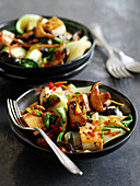 Bok choy with tofu and mushrooms (Asia)