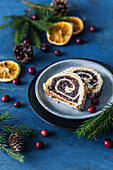 Polish Christmas poppy seed roll cake