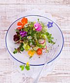 Floral summer salad