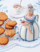 Homemade cookies with hot chocolate
