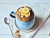 Paleo banana bread baked in a cup