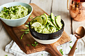 Quick avocado and lime rice