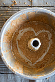 Angel Food Cake Pan with a Heart