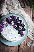 No-bake Coconut and Blackberry Cake (Vegan and Glutenfree)