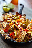 Nachos with jackfruit