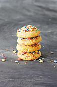 Buttery funfetti biscuits