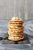 Funfetti pancakes with whipped maple butter