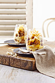 Warm ginger and pear trifles