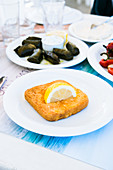 Saganaki - Greek fried feta