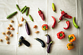 Various summer vegetables