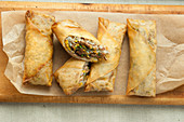 Stuffed filo pastries