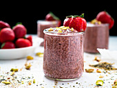 Strawberry chia pudding healthy dessert
